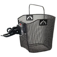 Bicycle  Wire Bike Basket With Clip-On Bracket