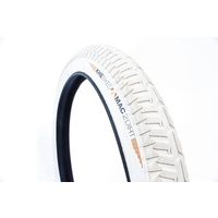 "KHE BMX BIKE TYRE  MAC2+, Creme-White, 20""x2.30"", DIRT"
