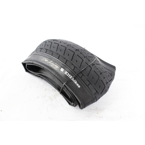"Khe Dan Lacey  Bmx Bike Tyre Folding Black, 20""X2.40"""